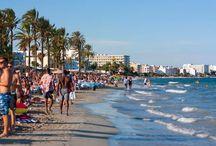 Playas de Sant Josep, Ibiza - Beaches around Sant Josep, Ibiza. / Las playas de Sant Josep de Sa Talaia en Ibiza. Beaches at Sant Josep de Sa Talaia in Ibiza.
