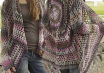 "Crochet DROPS jacket with lace pattern in ""Big Delight"". Size: S - XXXL ~ DROPS Design / Crochet DROPS jacket with lace pattern in ""Big Delight"". Size: S - XXXL ~ DROPS Design"