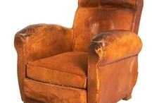 Leather Club Chairs / Antique, Vintage & New Leather Club Chairs