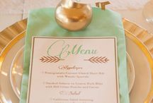 Color palate: mint and gold