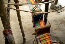 krosna tkackie / Narzędzia używane do tkania