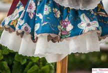 Vestido Flores del Campo con Tira Bordada de Topitos / Colección otoño 2013