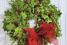 Christmas wreath - paper punches