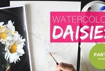 Watercolor tutorial videos / Swati Singh Studio watercolor tutorials on Youtube!