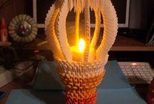lampa z origami