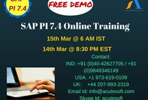 SAP PI 7.4/XI #Online #Training FREE DEMO from #AcuteSoft @ 15th Mar 6 AM IST & 14th Mar 8:30 PM EST