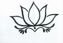 Lotus flower drawings