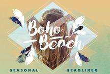 Boho Beach / Boho festival and beach looks