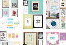 Wall art printables