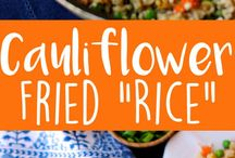 Coliflowers fried rice