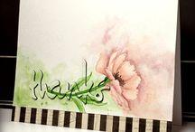 Artistic watercolour/mixed media cards