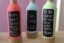 garrafas lousa