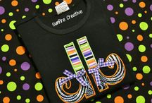 Halloween Shirts from Sunfire Creative / Cute Appliqued and Embroidered shirts for Halloween from Sunfire Creative.  https://www.etsy.com/shop/sunfirecreative/items?section_id=19058079&ref=pagination