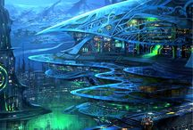 Sci-fi / Concept art • Sci-fi Architecture • Future • Sci-fi games art