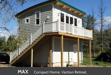 Prefab Homes / Mini home ideas. All sorts of ideas for prefabricated homes.