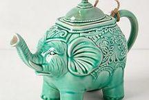 Teapots and tea. / Tea for comfort and fun.