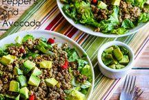 Salads! So many salads.
