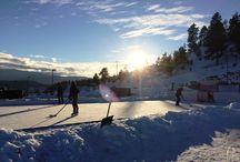 Skating Rink - Winter Fun / We have installed a temporary skating rink at BlueSky at Black Mountain.