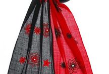 Red&Black Embroidered Shawl / Purity of Wool when conglomerated with your emotions makes your presence more attractive . Be it Shawl, wrapping, we understand the importance of the moment. We, therefore, offer you Red & Black Shawl, with Embroidery  that provides a very classy look for Parties & Events .The fine quality of  wool adds beauty in the Shawl.