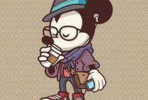 Hipster mickey