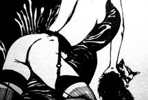 Nudes from comics / Inspiration for nude portraits taken from classic comic illustrators such as Milo Manara, Guido Crepax, etc . . .