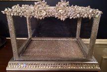 crystal card wedding box