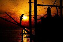 Al trabucco's sunset