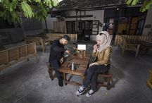 Young couple drinking coffe 2