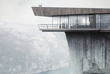 cliffside house