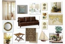 British Colonial/West Indies Style with Exotic Accents: (Living Room)