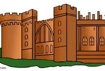 Wanitathema ridders en kastelen