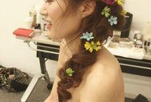 カラードレス髪型