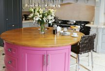 Design Ideas  |  Are you a Pink Lady? / Whether you love it or loathe it, an island like this is sure to make a statement. Our Audley kitchen, with a slightly more distinctive colour palette, illustrates that when you choose bespoke, your kitchen can be as unique as you are.