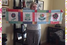 Bloom Quilt Sew Along by Lori Holt -Bee in My Bonnet- / Sew along bloom quilt using Lori Holts calico fabric by Riley Blake Designs