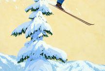 retro ski posters
