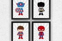 heróis infantis