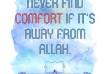 i m comfortable allah is with me alhamdulillah!!