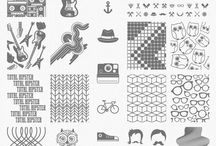 Nail stamping templates