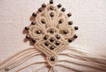 Ювелирное макраме - серьги, кольца, кулоны