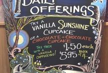 cafe signs/menu inspiration
