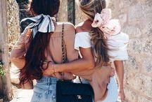 Nana Vogue inspirace, jak nosit šátky / Hedvábné šály a šátky příjemně dotvoří a zaručeně oživí celkový vzhled oblečení. Naučme se z nich vytvořit perfektní top na horké letní dny, funkční i zdobivou pokrývku hlavy nebo originální kabelku.