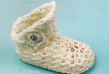 Βαπτιστικά παπουτσάκια για κορίτσια πλεκτά / Χειροποίητες δημιουργίες υπέροχα βαπτιστικά παπουτσάκια