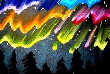 Art: Rainbow, Northern Light.../ sateenkaari,revontulet yms.