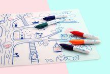 set de table silicone  à colorier sans Bpa/ silicone kid placemat Bpa free ϟ / Set de table en silicone à colorier pour nos petits artistes