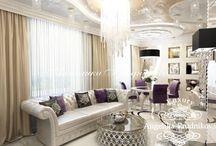 Дизайн квартиры в стиле арт-деко на Малой Бронной / Дизайн - проект интерьера выполнен для квартиры на Малой Бронной. Основой оформления выбран стиль арт-деко. Это направление придаёт квартире особую выразительность. Во всех комнатах большое количество зеркальных элементов декора, благодаря чему помещения наполнены естественным светом.