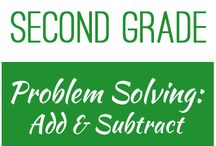 Second Grade: Problem Solving - Add & Subtract / This board contains resources for Texas TEKS: 2.4C -  solve one-step and multi-step word problems involving addition and subtraction within 1,000 using a variety of strategies based on place value, including algorithms