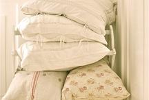 linen and pillows