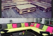 pallet furniture / by Susan Atwood