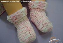 meia para bebe croche