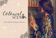 Colonial Scents   3 Piece Silk Velvet Dupatta Collection